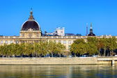 Horizontal view of Rhone river — Stockfoto