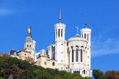 Basilica of Notre-Dame de Fourviere in Lyon — Stock Photo