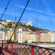 Panoramic view of Lyon city — Stock Photo