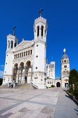 Notre Dame de Fourviere in Lyon — Stock Photo