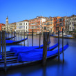 Gondolas on Grand Canal in Venice — Stockfoto