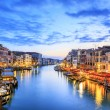 View of Grand Canal with gondolas at sunset — Stock Photo #28413279