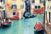Little canal with boats — Stock Photo