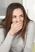 Young woman yawning — Stock Photo