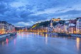The Saone river in Lyon city — Stock Photo