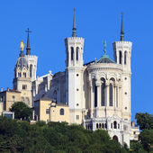 View of Basilica of Notre Dame de Fourviere — Stock Photo