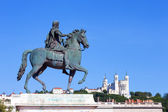 Statue of Louis XIV in Lyon — Stock Photo