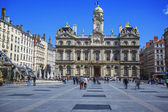 Terreaux square in Lyon city — Stock Photo