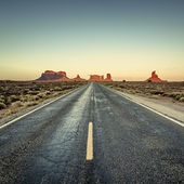 View of road to Monument Valley — Stock Photo