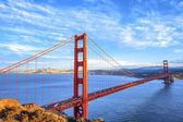 Ansicht der berühmten golden gate bridge — Stockfoto
