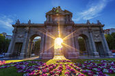 Puerta de Alcala at sunset — Stock Photo