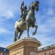 King Philip III on Plaza Mayor — Stockfoto