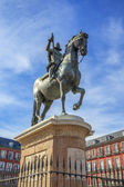 King Philip III on Plaza Mayor — Stock Photo