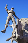 Bullfighter sculpture — Foto Stock