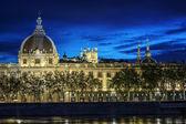 Lyon city after sunset — Stock Photo