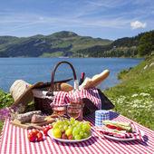 Alpine picnic — Stock Photo