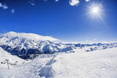 View of winter mountain landscape — Stockfoto
