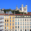 Famous view of Notre Dame de Fourviere — Stock Photo #33714093