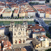 From the top of Notre Dame de Fourviere Basilica — Stock Photo