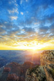 View of famous Grand Canyon at sunrise — Stock Photo