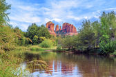 Horizontal view of Cathedral Rock — Stock fotografie