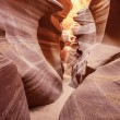 View in the famous Antelope Canyon — Stock Photo