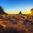 Sunrise at Monument Valley — Stock Photo