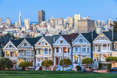 The Painted Ladies of San Francisco — Stok fotoğraf