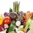 Crate of raw fresh vegetables — Stockfoto