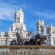 Cibeles Palace and fountain — Stock Photo