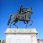 słynny posąg Ludwika XIV — Zdjęcie stockowe