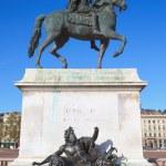 Famous Equestrian statue of Louis XIV — Zdjęcie stockowe