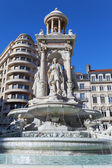 Fountain in Place des Jacobins — Stock Photo