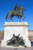 Famous Equestrian statue of Louis XIV — Stock Photo