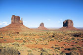 Famous view of Monument Valley — Stock Photo