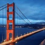 Golden Gate Bridge, blue hour — Stock Photo #36635853
