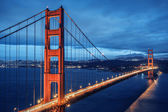 Golden Gate Bridge, blue hour — Stock Photo