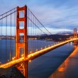 Panoramic view of famous Golden Gate Bridge — Stock Photo