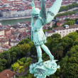 Saint Michel statue — Stock Photo