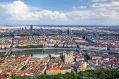 The most famous view of Lyon — Foto Stock