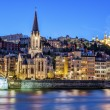 Stock Photo: Famous view of Lyon with Saone river