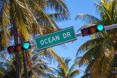 Vägskylt av berömda gatan ocean drice — Stockfoto