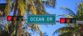 Street sign of street Ocean Drive — Stock Photo