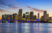 CIty of Miami Florida, summer sunset — Stockfoto