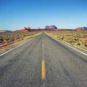 Famous road to Monument Valley — Stock Photo