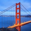Stock Photo: Golden Gate Bridge, SFrancisco at night