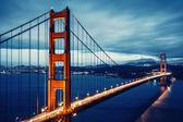 Cross processing Golden Gtae Bridge — Stock Photo