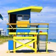 Famous lifeguard house — Stock Photo