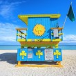 Stock Photo: Miami Beach lifeguard house