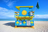 Miami Beach lifeguard house — 图库照片